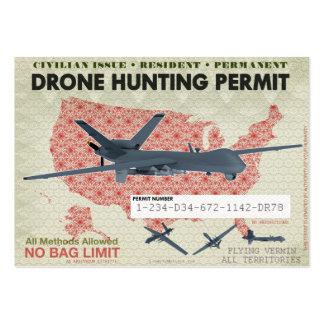 Drohne-Jagd-Erlaubnis Mini-Visitenkarten