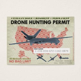 Drohne-Jagd-Erlaubnis Visitenkarte