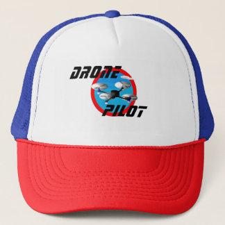 Drohne-Pilot, blaues Logo Truckerkappe
