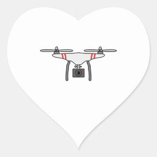 Drohne Quadcopter Fliegen-Front Herz-Aufkleber