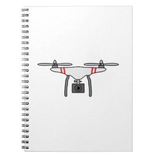 Drohne Quadcopter Fliegen-Front Notizblock