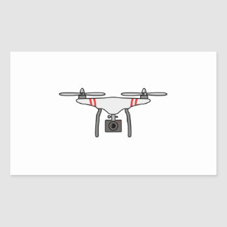 Drohne Quadcopter Fliegen-Front Rechteckiger Aufkleber