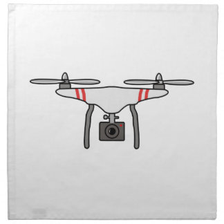 Drohne Quadcopter Fliegen-Front Serviette