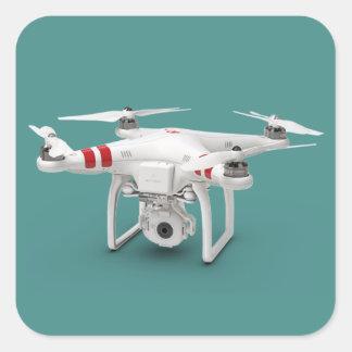 Drohnephantom Quadratischer Aufkleber