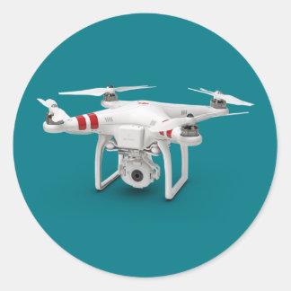 Drohnephantom Runder Aufkleber