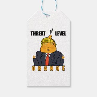 Drohungs-waagerecht ausgerichtete Orange Geschenkanhänger