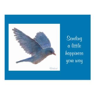 Drossel-Digital-Realismus-Malerei-Glück-Karte Postkarte