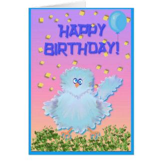 Drossel-Geburtstags-Karte Karte