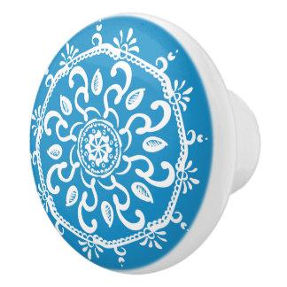 Drossel-Mandala Keramikknauf