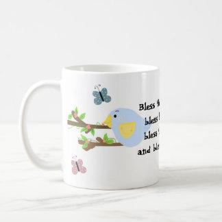 Drossel und Schmetterlinge Kaffeetasse