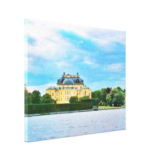 Drottningholm Palast in Schweden Leinwanddruck