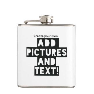 Druck auf einer FLASCHE - addieren Sie pics und Flachmann