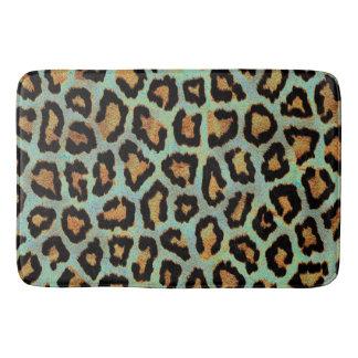 DRUCK-Badmatte aquamarinen Leopard Chic Tier Badematte