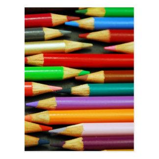 Druck der bunten Bleistifte Postkarte
