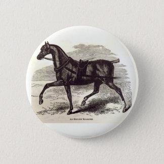 Druck des 19. Jahrhundertsein englisches Runder Button 5,7 Cm