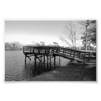Druck des Dock-B&W besonders klein Kunst Foto