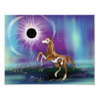 Druck des Überraschungs-Eklipse-Baby-Pferd WIP