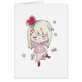 Druck des Valentines TagesLiebe kranken chibi Karte