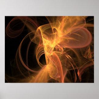 Druck: Goldener Strudel Plakatdruck