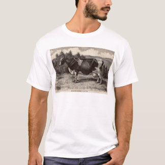 Druck Holstein-Färse des 19. Jahrhunderts T-Shirt