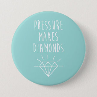 Druck macht Diamant-Zitat Runder Button 7,6 Cm
