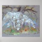 DRUCK - Pegasusmutter u. -fohlen Poster