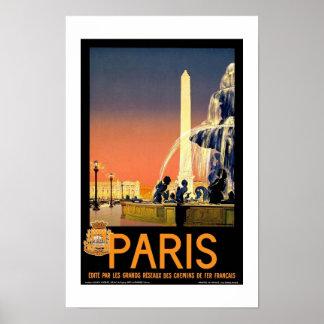 Druck-Retro Vintage Bild-Reise Paris Frankreich Poster
