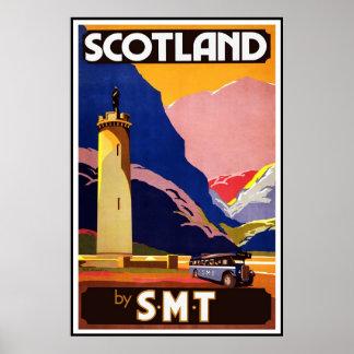 Druck-Retro Vintage Bild-Reise Schottland Poster