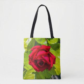 Druck-Taschentasche der Roten Rose ganz vorbei - Tasche