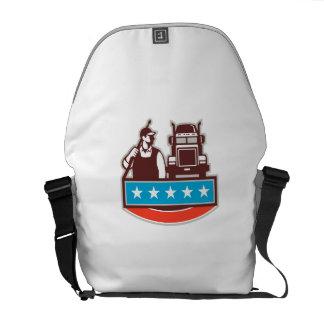 Druck-Waschmaschinen-Arbeitskraft-LKW USA-Flagge Kurier Taschen