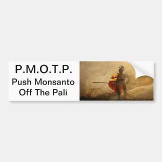 drücken Sie Monsanto weg vom pali Autoaufkleber