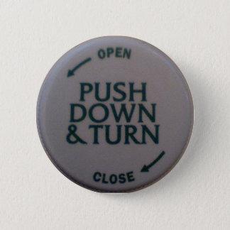 Drücken Sie runter u. drehen Sie Neuheit Runder Button 5,1 Cm