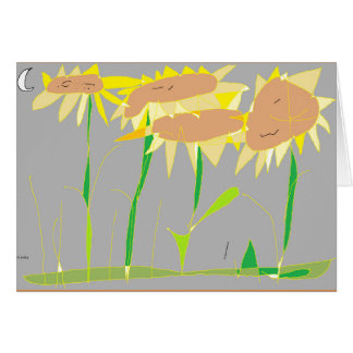 Drücken Sie sich mit einem Garten der Sonnenblumen Karte