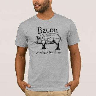 Druckknopf, empfangen Speck - Speck-Zufuhr T-Shirt