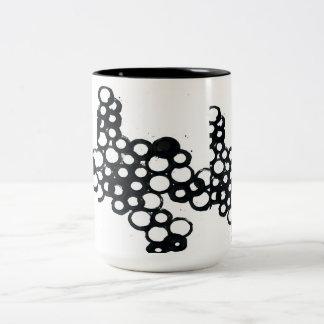 Druckkreise Zweifarbige Tasse