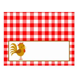 DruckPlatzkarte-rote Scheunen-Vieh Postkarte