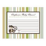 Druckratekarten-Affe-Zeit-Zoo-Tier Postkarte