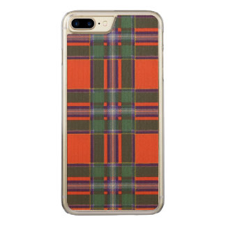 Drummond Clan karierter schottischer Tartan Carved iPhone 8 Plus/7 Plus Hülle