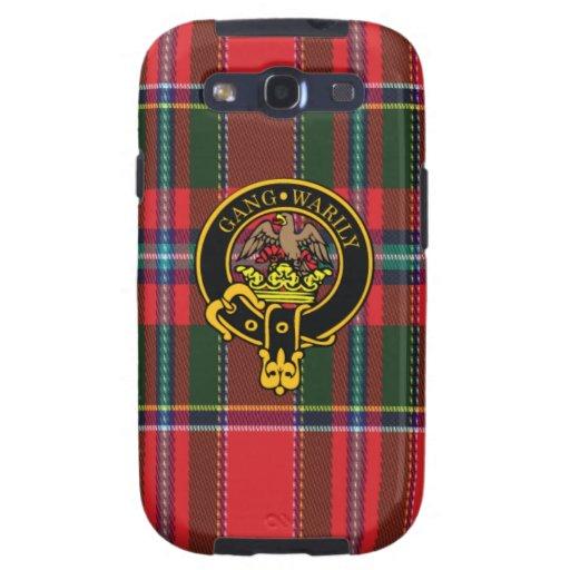 Drummond schottisches Wappen und Tartan S3 rufen Galaxy SIII Schutzhülle