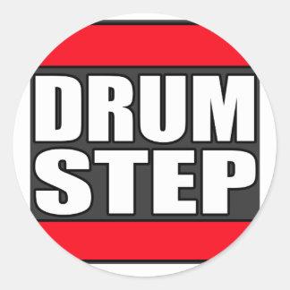 DRUMSTEP Trommel und Baß und Dubstep Runder Sticker