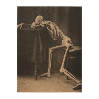 Drunk Skeleton Holzwanddeko