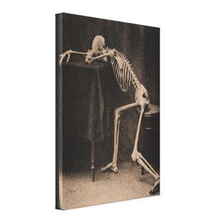 Drunk Skeleton Leinwanddruck