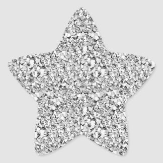 Druzy Kristall - weißes Goldfarbe Stern Aufkleber