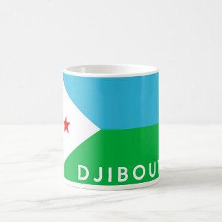 Dschibouti-Landesflaggesymbol-Namentext Kaffeetasse