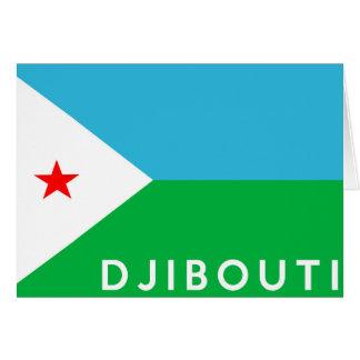 Dschibouti-Landesflaggesymbol-Namentext Karte