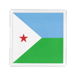 Dschibuti-Flagge Acryl Tablett