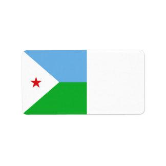 Dschibuti-Flagge Adressaufkleber