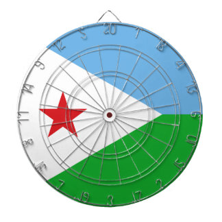 Dschibuti-Flagge Dartscheibe