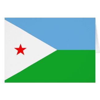Dschibuti-Flagge DJ Karte