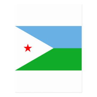 Dschibuti-Flagge DJ Postkarte